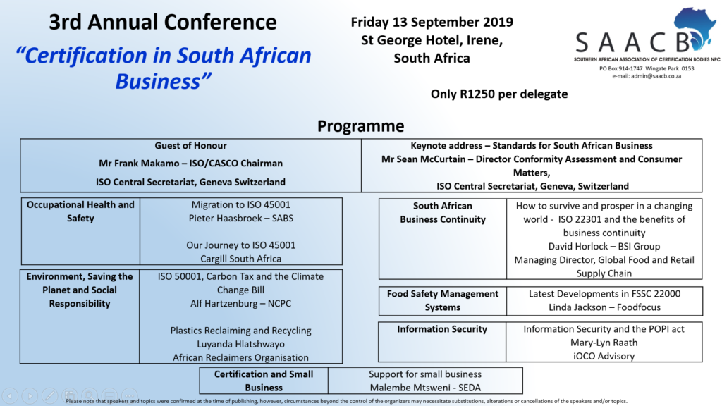 Southern African Association of Certification Bodies